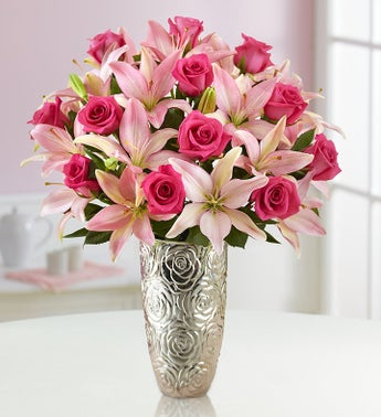Magnificent Pink Rose and Lily