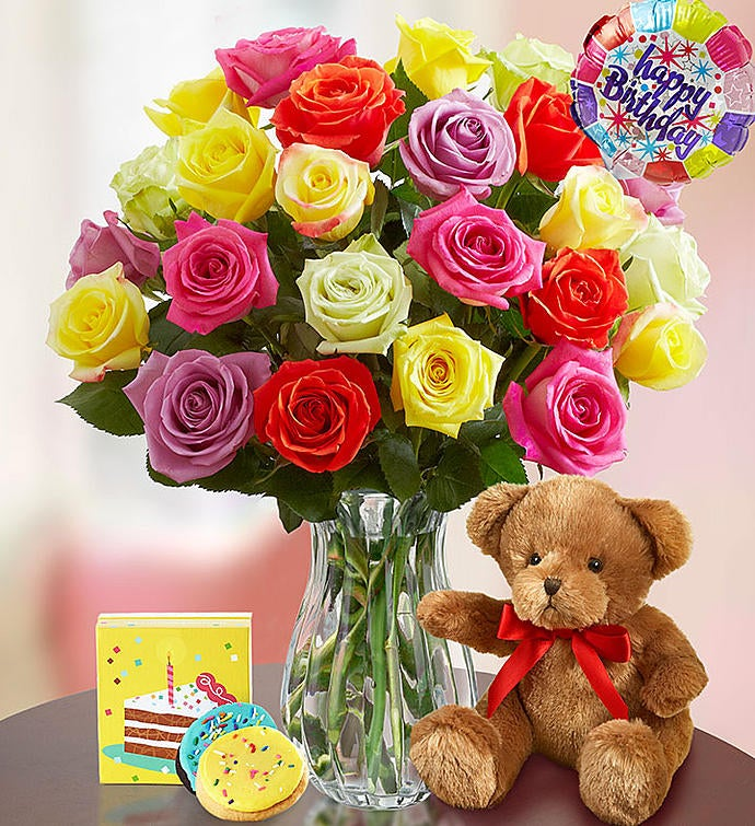 Happy Birthday Assorted Roses
