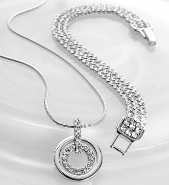 SWAROVSKI® Crystal Circle Necklace