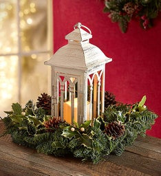 Winter Lights Lantern Centerpiece