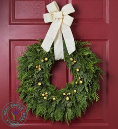 Golden Lights Wreath by Real Simple®- 22""
