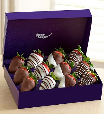 12 Chocolate Covered Strawberries