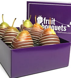 Belgian Chocolate Covered Pears