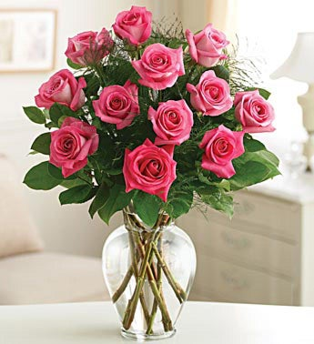 Rose Elegance Long Stem Pink Roses