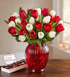 30 Holiday Tulips Bouquet Only