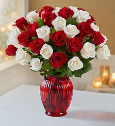Peppermint Roses, 18-36 Stems