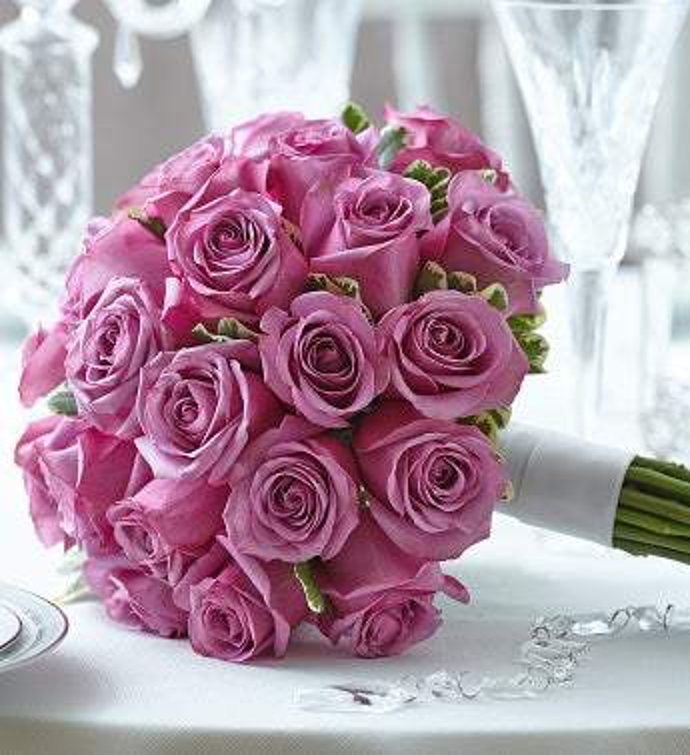 Purple Elegance Rose Bouquet Large
