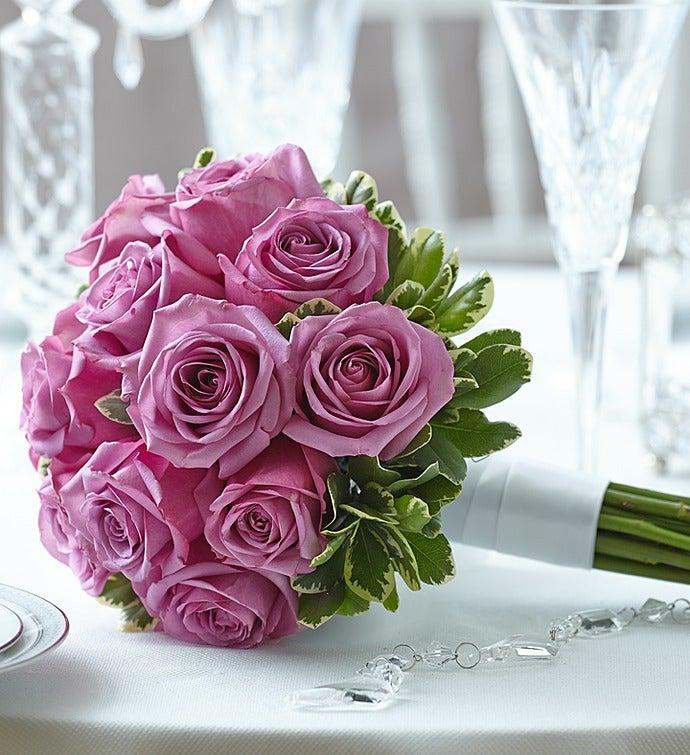 Purple Elegance Rose Bouquet Small