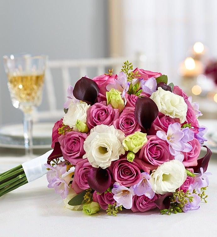 Purple Elegance Mixed Bouquet Large