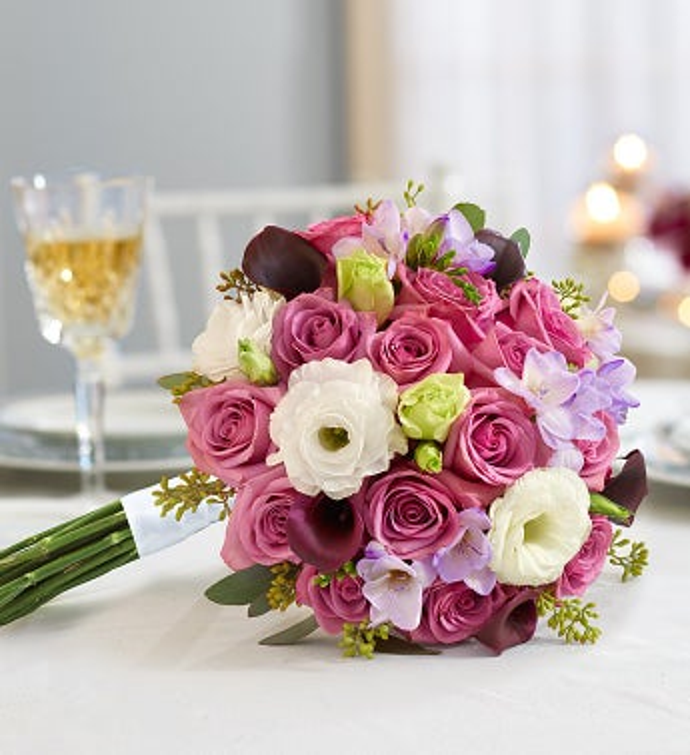 Purple Elegance Mixed Bouquet Medium