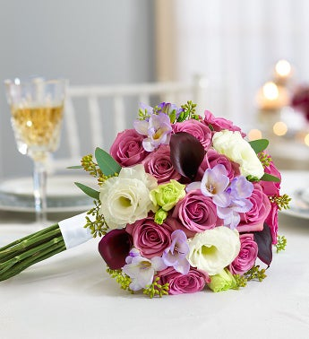 Purple Elegance Mixed Bouquet Small