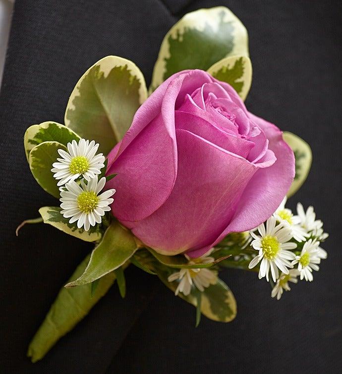 Purple Elegance Boutonniere Rose