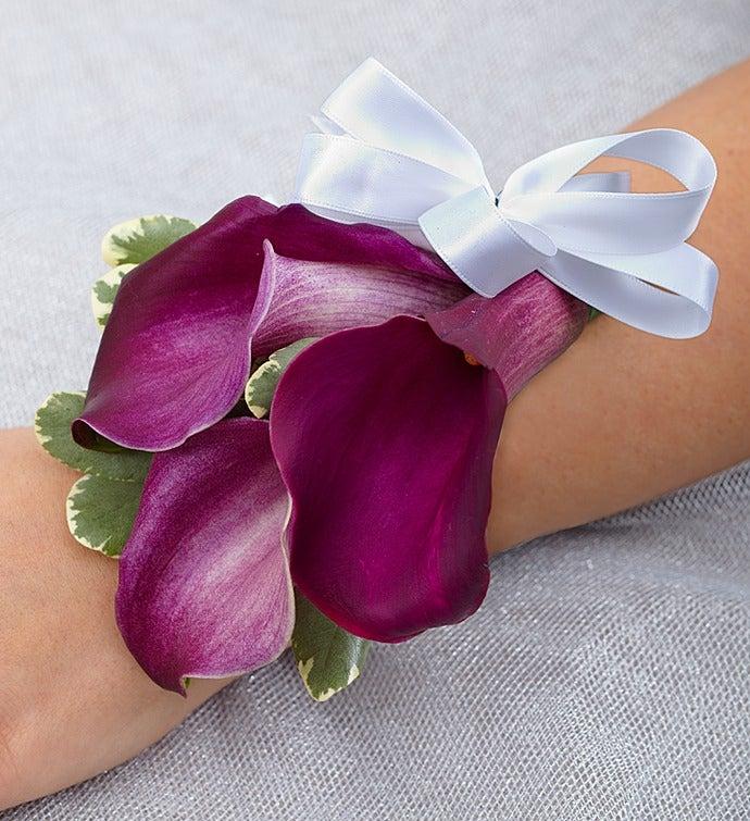 Purple Elegance Corsage Mini Calla Lily