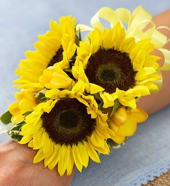 Country Charm Corsage Sunflower Corsage