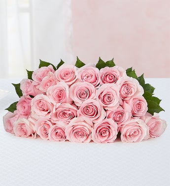 Pink Petal Roses 24 Stems, Bouquet Only