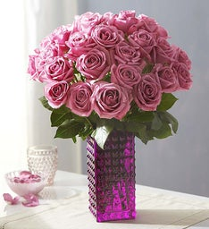 Passion for Purple Roses + Free Vase