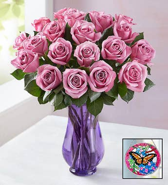 Lovely Lavender Roses for Mom, 12-24 Stems