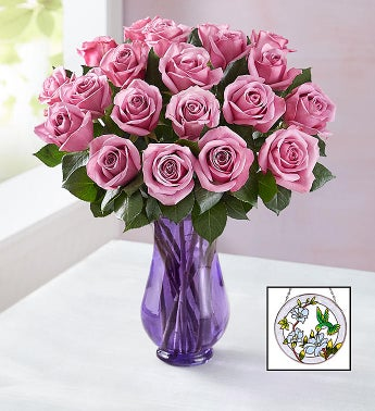 Purple Roses with Suncatcher