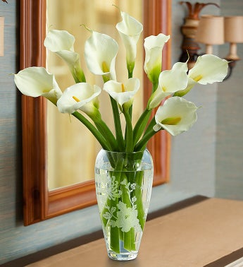 Marchesa by Lenox® Vase with Calla Lilies