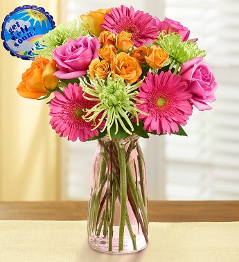 Get Well Vibrant Blooms Bouquet