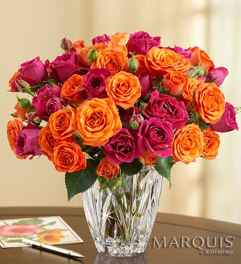 Charming Blooms in Marquis by Waterford® Vase