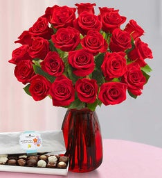 Two Dozen Red Roses for Mom, Buy 12, Get 12 Free