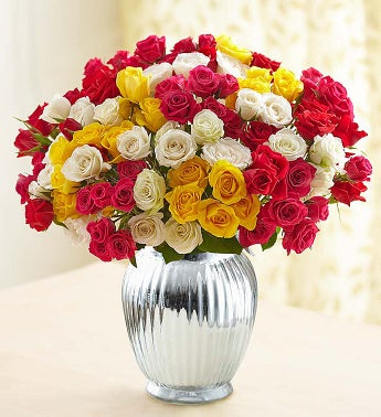 Spray Roses, Double Your Bouquet + Free Vase