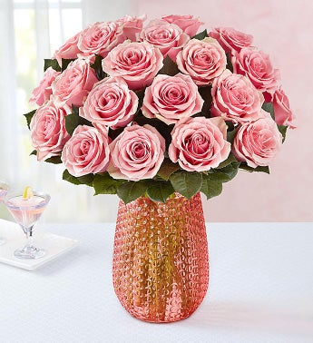 Pink Roses + Free Shipping