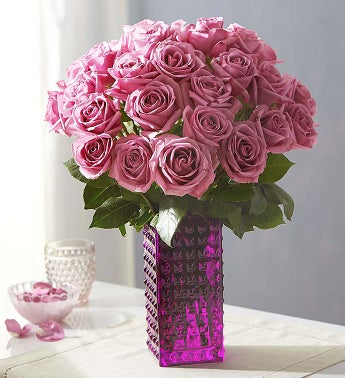 Purple Roses + Free Shipping