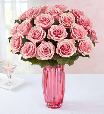 Pretty in Pink Rose Bouquet 12-24 Stems