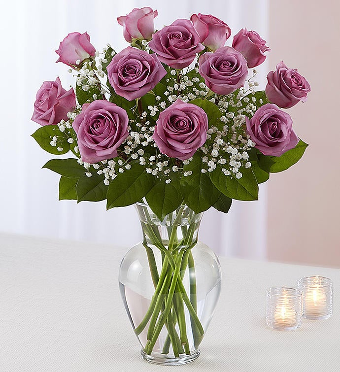Rose Elegance Premium Long Stem Lavender Roses