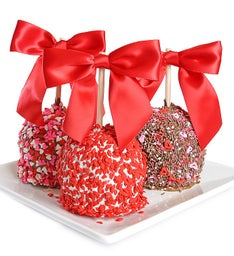 Valentine's Caramel Chocolate Apples