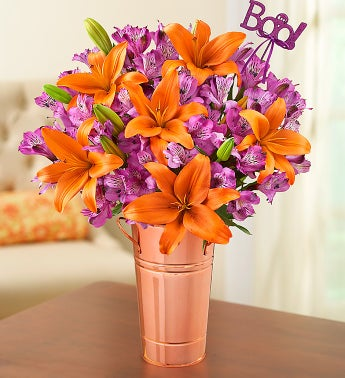 Brilliant Autumn Lily Medley with Boo Pick