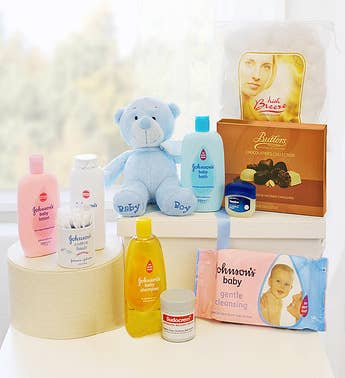 New Born Baby Gift Basket Boy