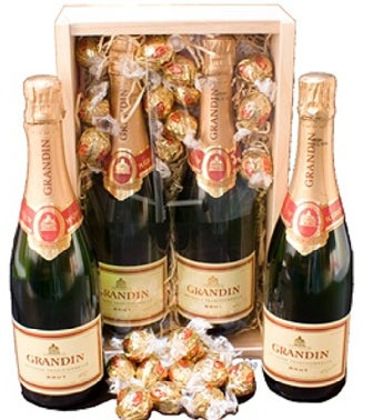Double Grandin Sparkling Wine Gift Box