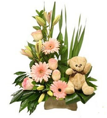 New Baby Girl Flower Arrangement