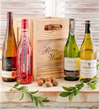 Variety of Wines in a Wooden Crate