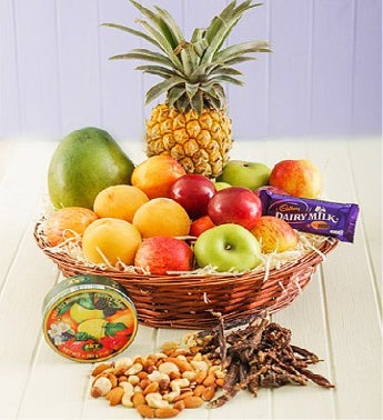 Seasonal Fruit and Treats Basket