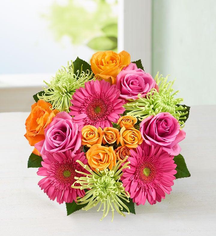 Vibrant Blooms Bouquet  Bouquet Only