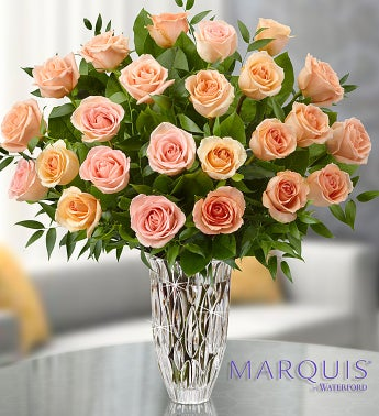 Marquis by Waterford® Premium Peach Roses