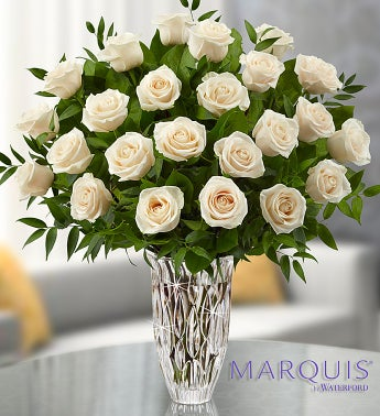Marquis by Waterford® Premium Long Stem White Roses