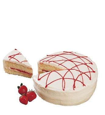 Vanilla and Red Icing Cake