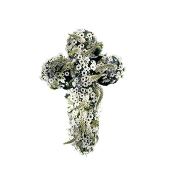 Cross of Eternity Funeral Spray