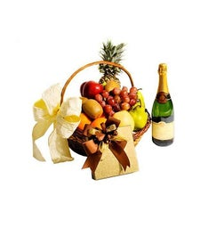 Fruit Basket, Wine & Chocolate