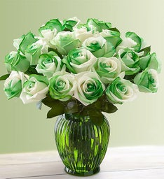 St. Patrick's Day Roses: 12-24 Stems