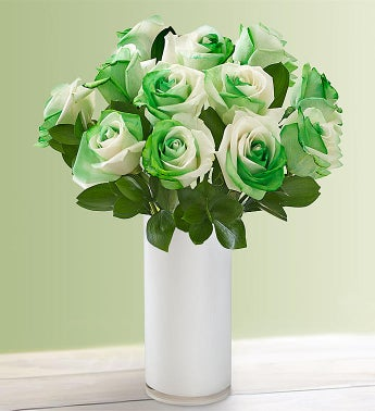 St Patricks Day Roses