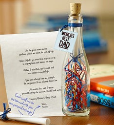 World's Best Dad Message in a Bottle®