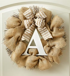 Personalized Burlap Wreath – 18""