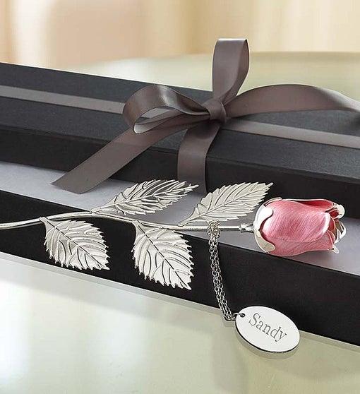 Keepsake Silver Plated Red Or Pink Rose 1800flowerscom 139093