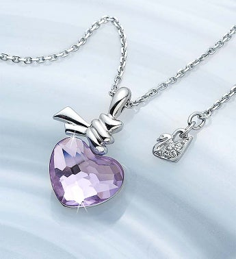 SWAROVSKI® Ties Of Love Crystal Heart Necklace Crystal Heart Necklace